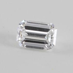 Emerald Loose Diamond 0.57 Ct D 2 WGI C200271